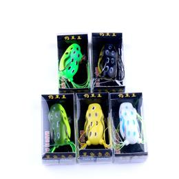 5pcs New Soft Bait Topwater Ray Frog Lure Japan Plastic Fishing Lure
