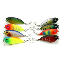 16pcs 5.5CM 6.6G Fishing Tackle 55mm Plastic Hard Fishing Lure