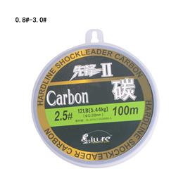 leada 100% carbon fiber fluor fishing lines    carbon fiber 100mt spool super strong guide 60lb 80lb fishing lines  free shipping