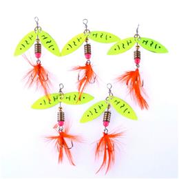 10pcs Spinner Baits Spinners Double Piece Spoon Fishing Lures Hard Baits