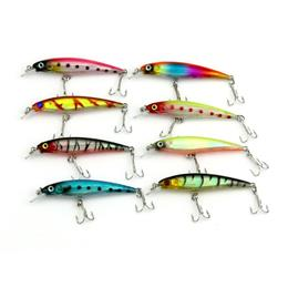 8PCS 8.5CM-7.2G Fishing Lures With Hooks Deep Swim Hard Bait