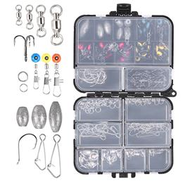 Fishing Tackle Box Set  Fishing Accessories Kit  Crank Hooks Sinker Weig...