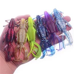 5Pcs Silicone Soft Bait Double Sided Style Fishing Lures