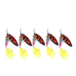 5PC 6g Spinner Fishing Lure Isca Artificial Spoon Bait Metal Bionic Spin...