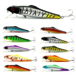 10PC Simulation Fake Baits 13cm 28.5g Minnow Fishing Lures