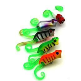 5PC Topwater Popper Fishing Lure Isca Artificial Bait Floating Soft Frog Pesca Wobblers Lure