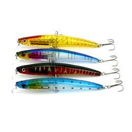 10PCS 4 Color 11.5cm 11.2g Bigger Plastic Fishing Lures