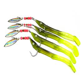 10PCS Soft Lure Spinner Bait Fishing Jig Hook Isca Artificial 3d Japan S...