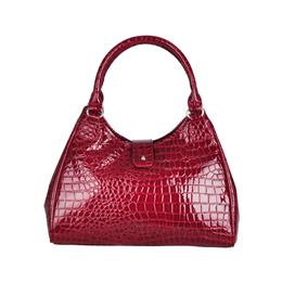 Fashion Women handbag Croco Hobo bag Clap fastening zip closure