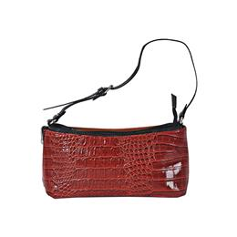 Small bag with a reversible slip croco pattern