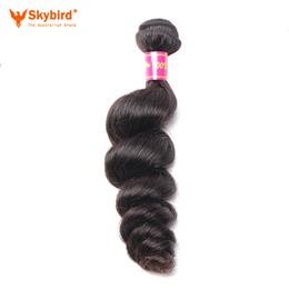 12inches Skybird Hair Products Brazilian Hair Weave Bundles Loose Wave Human Hair Weaving Extensions 1 Piece