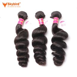18inches Skybird Hair Products Brazilian Hair Weave Bundles Loose Wave Human Hair Weaving Extensions 1 Piece
