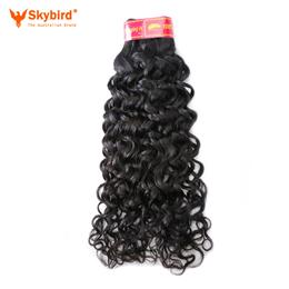 "14"" Skybird Brazilian Water Wave Human Hair Weave Bundles  Virgin Hair Extensions Extensions  Natural Color"