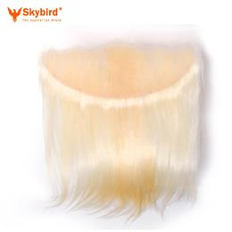 16 inches Skybird Hair Products Straight Virgin Hair Lace Frontal 613 Color 13x4 Swiss Lace Brazilian Human Hair Closure