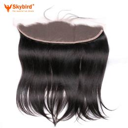 10inches Skybird Hair Lace Frontal Closure 13X4 with Baby Hair Pre Plucked Brazilian Straight Remy Hair Free Part