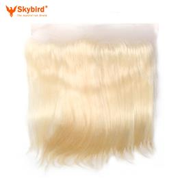18 inches Skybird Hair Products Straight Virgin Hair Lace Frontal 613 Color 13x4 Swiss Lace Brazilian Human Hair Closure