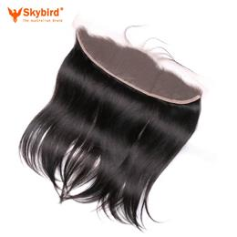 14inches Skybird Hair Lace Frontal Closure 13X4 with Baby Hair Pre Plucked Brazilian Straight Remy Hair Free Part
