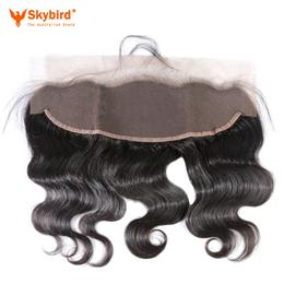 10 inches Skybird Ear to Ear Lace Frontal Closure 13X4 with Baby Hair Pre Plucked Brazilian Body Wave Human Hair