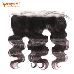 14 inches Skybird Ear to Ear Lace Frontal Closure 13X4 with Baby Hair Pre Plucked Brazilian Body Wave Human Hair