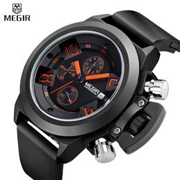 Men Sport Quartz Men Watches Chronograph Wristwatch Time Hour Clock Mens...
