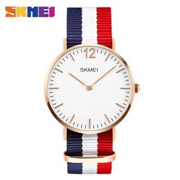 SKMEI Lovers' Quartz Watches Men Women Fashion Casual Watch Simple Ultra-thin Design Wristwatches