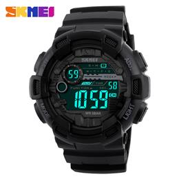 Men Silicone Sport Watch Digtial Watches Waterproof Military Electronic Wristwatch Male Clock