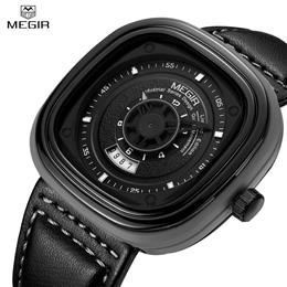 Watches for Men Top Brand Leather Men Watch Quartz Wristwatch Fashion Sp...