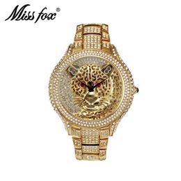 Mens Watches Tiger Men Watch Quartz Casual Genuine Silver Gold Wrist Watch