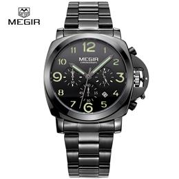Quartz Watch Men Steel Fashion Clock Male Watches With Complete Calendar Luminous