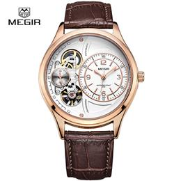Luxury Quartz Watch Chronograph Mens Watches Genuine Leather Mens Milita...