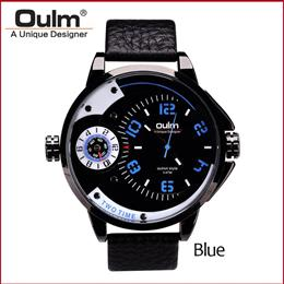 Mens Watches Luxury Army Watch Leather Strap Wristwatches Analog Big Size