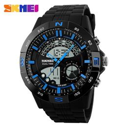 Military Sports Watches Men Digital Watch Back Light Dual Display Wristwatches Top Brand