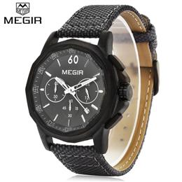 Quartz Men Watch Canvas Casual Military Wristwatches Waterproof Chronogr...
