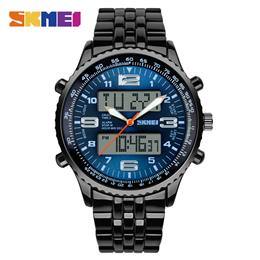 SKMEI Outdoor Sport Watch Men Dual Display Wristwatches Waterproof Army Quartz Watches