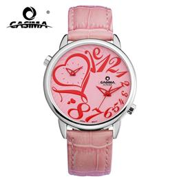 CASIMA Luxury Brand Watches Women Fashion Casual Double Time Zone Funcy Heart Digital Womens Quartz Wrist Watch