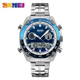 Sports Watches Men Electronic Luxury Watch Shock Stainless Steel Dual Display Wristwatches