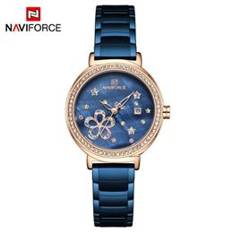 NAVIFORCE Lady Dress Watch Stainless Steel Quartz Watch Fashion for Wome...