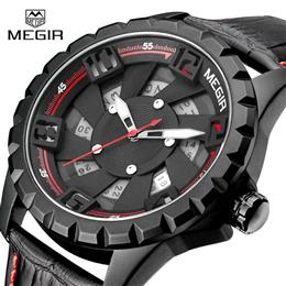 New Men Watch Leather Military Watch Clock Quartz Mens Watches Sports Wristwatch