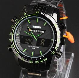 Men Sports Watches Men's Digital Black Military WristWatch Full Steel Male Clock Men