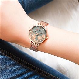 CURREN Women Watches Top Brand Luxury Stainless Steel Strap Wristwatch
