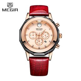New Women Watches Fashion Genuine Leather Luminous Quartz Wristwatches C...