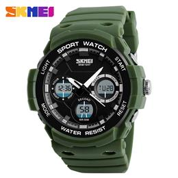 SKMEI Men Sports Watches Outdoor Military Watch Fashion Digital Dual Display Wristwatches