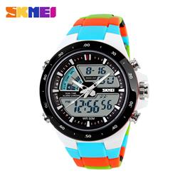 SKMEI Watch Men Fashion Casual Analog Digital Wristwatch Military Chrono Calendar