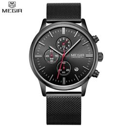 Men Stainless Steel Quartz Men Watches Chronograph Watch Clock Men