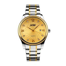 SKMEI Casual Quartz Watch Men Luxury Wrist Stainless Steel 9101 Role Watch Mens Watches
