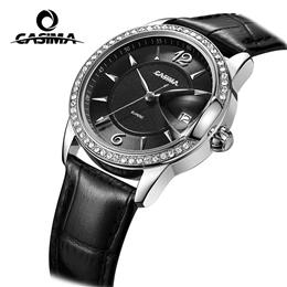 CASIMA Luxury Brand Women's Watches 2017Fashion Casual Ladies Quartz Wrist Watch Women Leather Waterproof Relojes Mujer