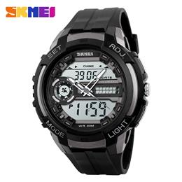 Men Sports Watches LED Back Light Military Watch Quartz Digital Dual Display Wristwatches