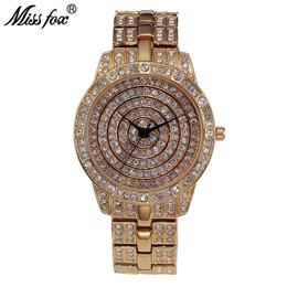 Luxury Watch Women Rhinestone Dress Quartz Watch Gold Women Fantastic Ladies Wrist Watches