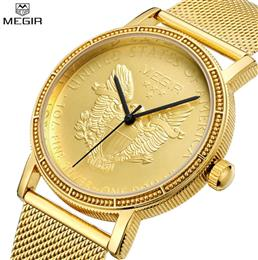 Men Quartz Watches Mens Full Steel Clock Gold Watch Casual Wrist Watch W...