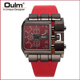 Quartz Watch with Leather Band Square Dial Famous Brand Luxury Clock Men Military Wristwatch